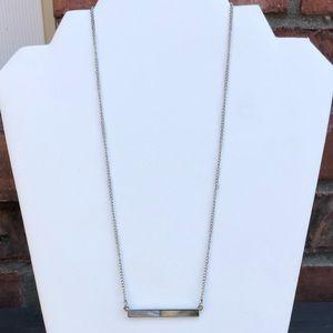 Buckle Silver Bar Necklace